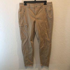 Ralph Lauren Cargo 5-Pocket Zip Ankle Pants sz 10